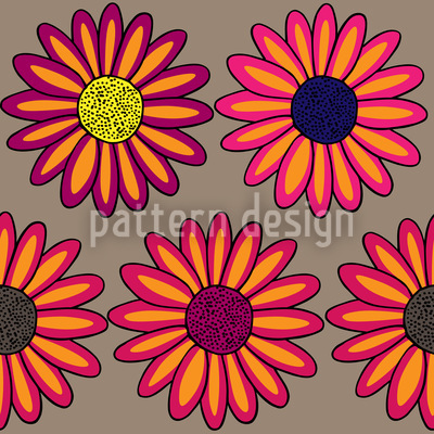 Margeriten Multicolor  Muster Design