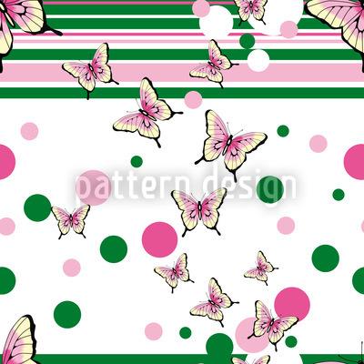Schmetterlinge Streifen Umher Vektor Muster