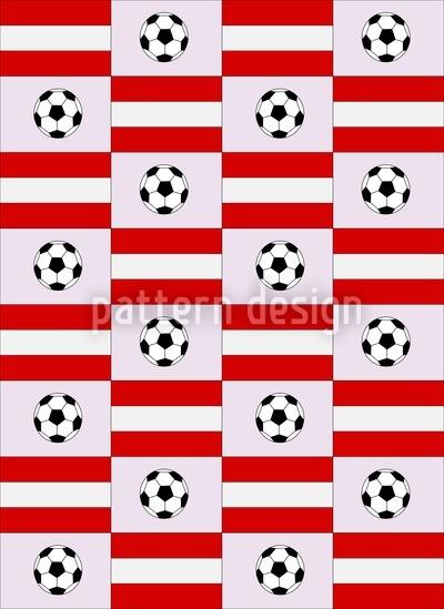 Frauenfussball Made In Austria Nahtloses Vektor Muster
