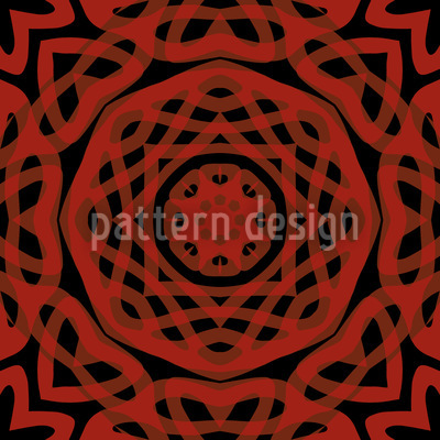 Orient Express Red Seamless Vector Pattern