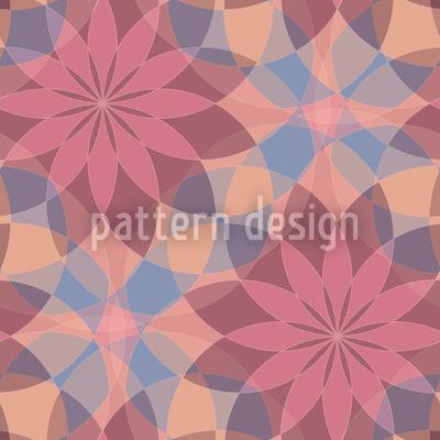 Harlekins Sternblumen Rapportiertes Design