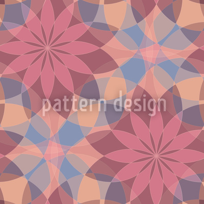 Starflowers Of Harlequin Repeating Pattern