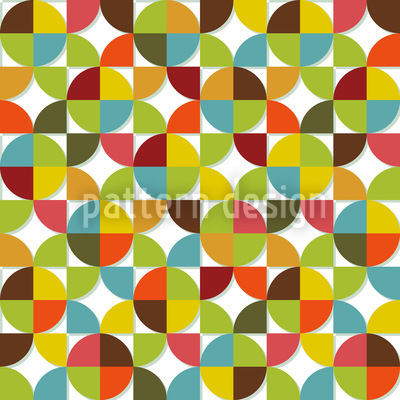 Quartered Circles  Vector Pattern