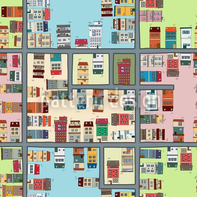 Stadtplan Muster Design