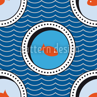 Portholes Of The Goldfish Pond Vector Design