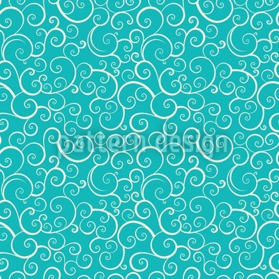 Aqua Love Repeat Pattern