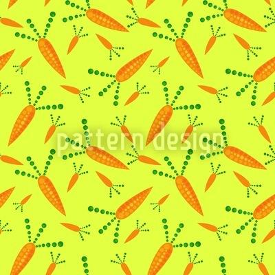 Karotten Ernte Muster Design