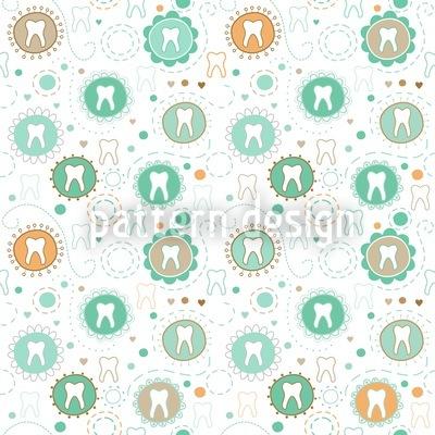 Milchzahn Sammlung Muster Design