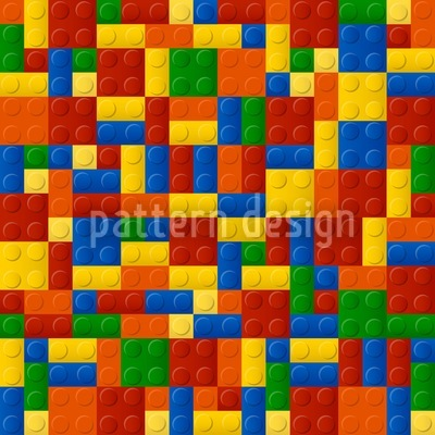 Plastic Pieces Seamless Vector Pattern Design