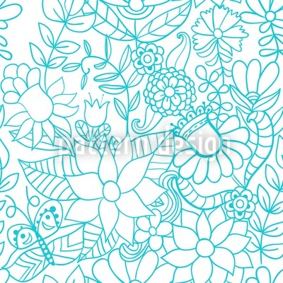 In The Garden Of The Snow Queen Vector Pattern