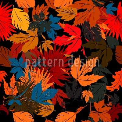 Blätter Im Beet Rapportmuster