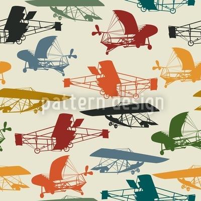 Historische Flieger Muster Design
