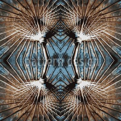 Abstrakter Halt Muster Design