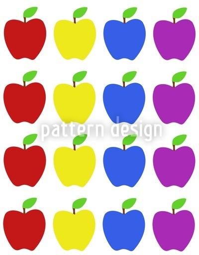 Apple Multicolor Design Pattern