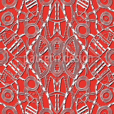 Des Dschungelkönigs Feuerspiele Nahtloses Muster