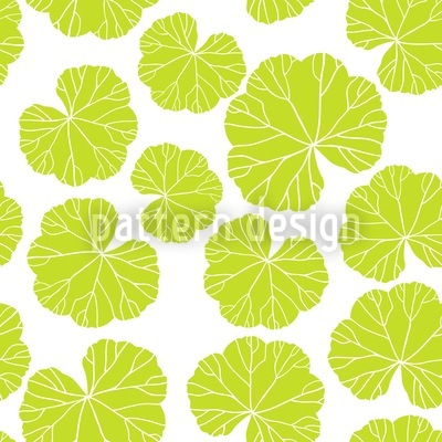 Ladys Mantle Leaves Seamless Vector Pattern Design
