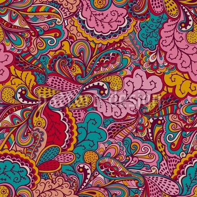 The Land Of Fantasies Seamless Pattern
