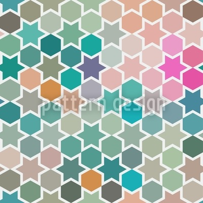 Star Windows In Bagdad Vector Pattern