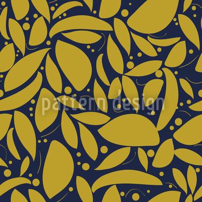Blattgold Nahtloses Vektor Muster