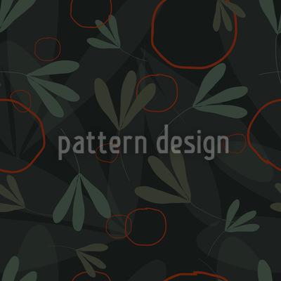 Kreise Und Blätter Vektor Muster