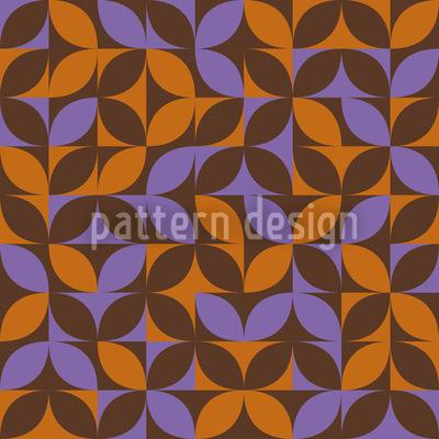 Eulatik Retro Petals Repeat Pattern