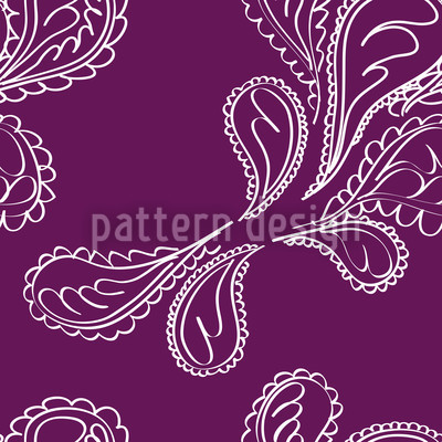Purpuri Paisley Seamless Vector Pattern Design