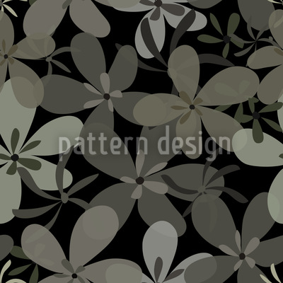Night Flower Festival Seamless Vector Pattern