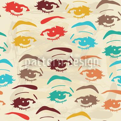 Pop Art Look Pattern Design