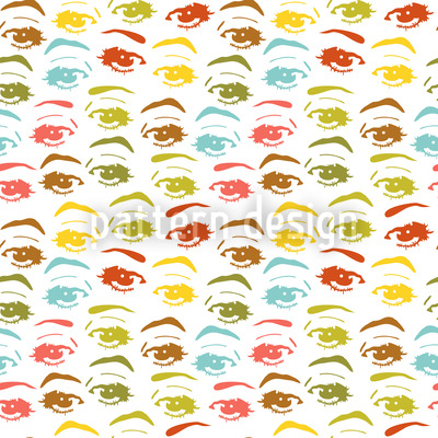 The Secret In Her Eyes Seamless Vector Pattern