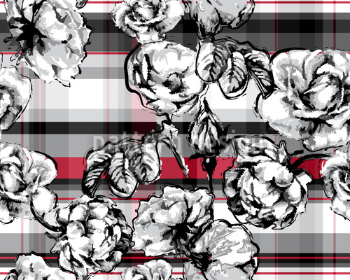 Scotish Rose Check Vector Design