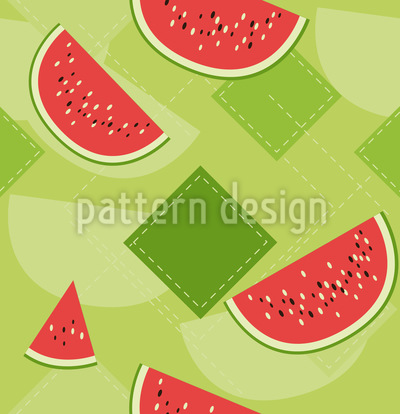 Fresh watermelons Repeating Pattern
