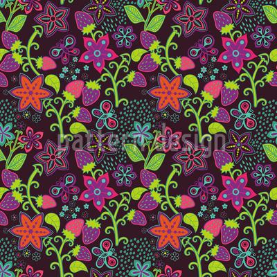 The Secret Strawberry Garden Pattern Design