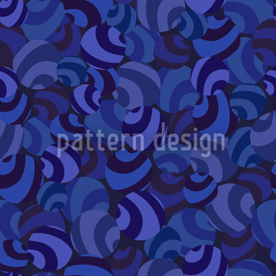 Candy Crush Blues Seamless Vector Pattern Design