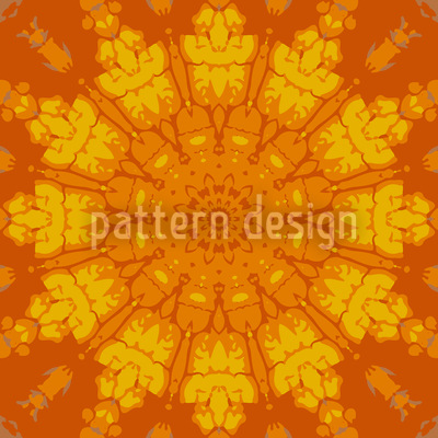 Gothic Sun Wheel Seamless Vector Pattern Design