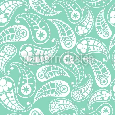 Naturally Paisley Seamless Vector Pattern