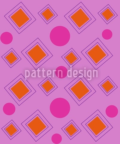 Dots And Squares Land Design Pattern