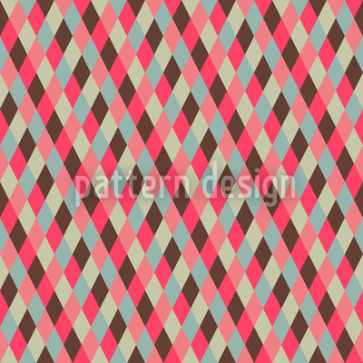 Checks Downhill Seamless Vector Pattern Design