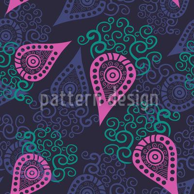 Paisley Liebt Schnörkel Vektor Design