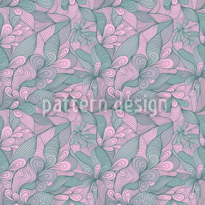 Florale Bindung Nahtloses Muster
