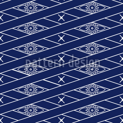 Rhombus Blue Pattern Design