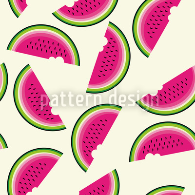 Melons For Breakfast Repeat Pattern