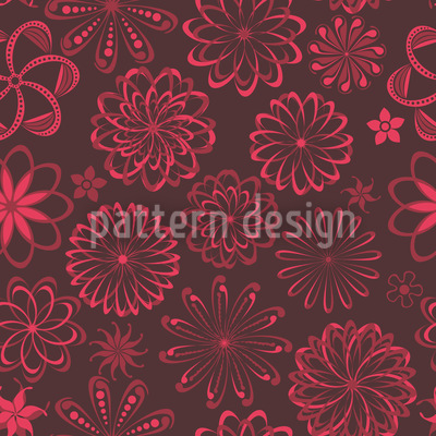 Flowers Love Potion Seamless Vector Pattern