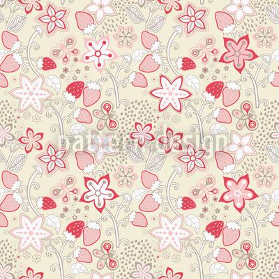 In Omis Erdbeer Paradies Vektor Muster