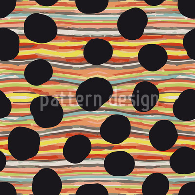 Black Hole River Seamless Vector Pattern Design