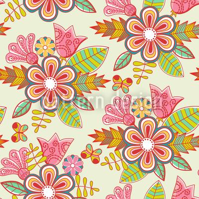 Sommer Blumen Nahtloses Muster