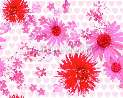 Herziger Blütenrausch Nahtloses Muster