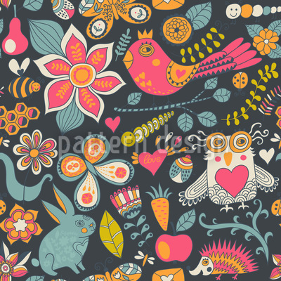 Love Parade In The Magic Forest Vector Design