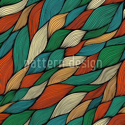 Rusalkas Geflochtenes Haar Im Herbst Muster Design
