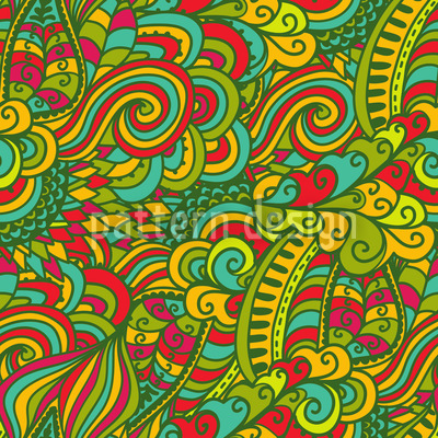 Glücksdrachen Fantasie Musterdesign