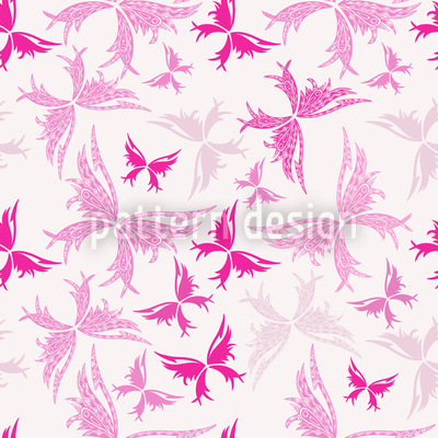 Maori Butterflies Vector Ornament